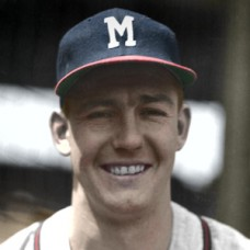 "Harry Hanebrink - 1953 Milwaukee Braves 4""x6"" colorized print"