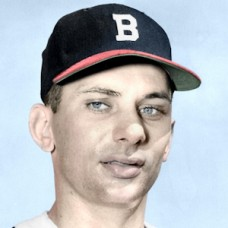 "Jack Dittmer - 1952 Boston Braves - 4""x6"" colorized print"