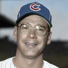 "Jack Littrell - 1957 Chicago Cubs - 4""x6"" colorized print"
