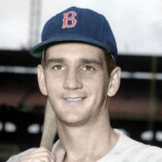 "Jim Mahoney - 1959 Boston Red Sox - 4""x6"" colorized print"