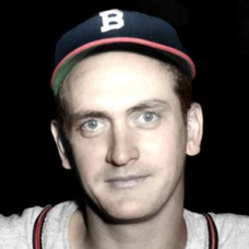 "Jim Russell - c. 1948-49 Boston Braves - 4""x6"" colorized print"