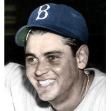 "Joe Orengo - 1943 Brooklyn Dodgers 4""x6"" colorized print"