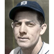 "Joe Rogalski - 1938 Detroit Tigers Baseball - 4""x6"" colorized print"