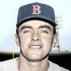 "Joe Trimble - 1955 Boston Red Sox - 4""x6"" colorized print"