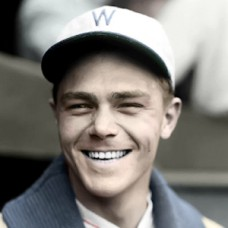 "Johnny Berger - 1927 Washington Senators - 4""x6"" colorized print"