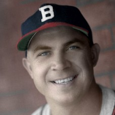 "Johnny Hopp - 1946 Boston Braves - 4""x6"" colorized print"