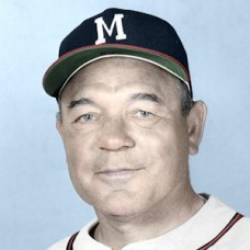 "Johnny Riddle - 1957 Milwaukee Braves - 4""x6"" colorized print"