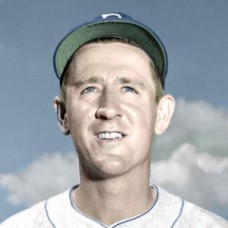 "Johnny Schmitz - 1951 Brooklyn Dodgers 4""x6"" colorized print"
