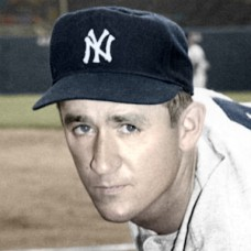"Johnny Schmitz - 1952 New York Yankees - 4""x6"" colorized print"