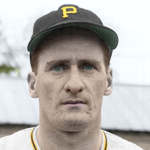"Junior Walsh - 1952 Pittsburgh Pirates - 4""x6"" colorized print"