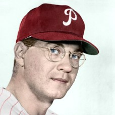 "Ken Walters - c. 1960-61 Philadelphia Phillies - 4""x6"" colorized print"