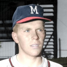 "Larry Maxie - 1964 Milwaukee Braves - 4""x6"" colorized print"