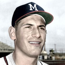"Len Gabrielson - 1960 Milwaukee Braves - 4""x6"" colorized print"