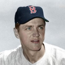"Len Okrie - 1952 Boston Red Sox 4""x6"" colorized print"