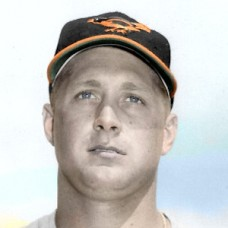 "Leo Burke - 1959 Baltimore Orioles - 4""x6"" colorized print"