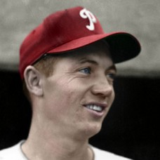 "Mel Clark - c. 1951-55 Philadelphia Phillies 4""x6"" colorized print"