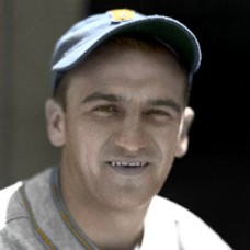 "Mickey Haslin - 1936 Boston Bees - 4""x6"" colorized print"