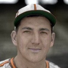 "Mike Chartak - c. 1942-44 St. Louis Browns 4""x6"" colorized print"