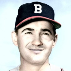 "Paul Burris - 1952 Boston Braves - 4""x6"" colorized print"