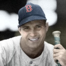 "Paul Campbell - 1946 Boston Red Sox - 4""x6"" colorized print"