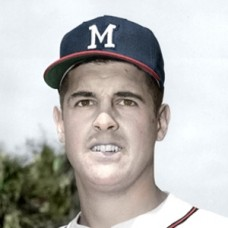 "Phil Paine - 1957 Milwaukee Braves - 4""x6"" colorized print"