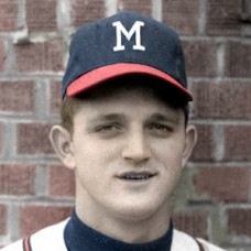 "Phil Roof - 1961 Milwaukee Braves - 4""x6"" colorized print"