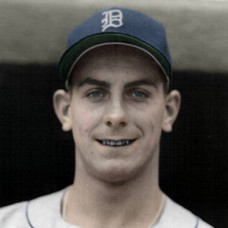 "Ray Herbert - 1951 Detroit Tigers - 4""x6"" colorized print"