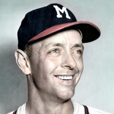 "Roy Smalley - 1954 Milwaukee Braves - 4""x6"" colorized print"