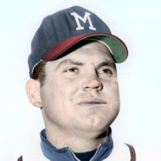 "Seth Morehead - 1961 Milwaukee Braves - 4""x6"" colorized print"