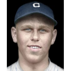 "Ted Odenwald - 1921 Cleveland Indians 4""x6"" colorized print"