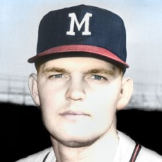 "Bob Hendley - 1963 Milwaukee Braves - 4""x6"" colorized print"