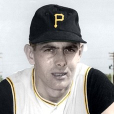 "Dick Rand - 1957 Pittsburgh Pirates - 4""x6"" colorized print"