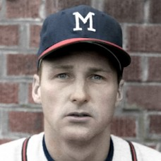 "Frank Bolling - 1961 Milwaukee Braves - 4""x6"" colorized print"