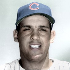 "Frank Ernaga - 1958 Chicago Cubs - 4""x6"" colorized print"