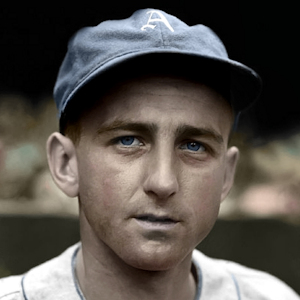 "Stan Sperry - 1938 Philadelphia Athletics - 4""x6"" colorized print"