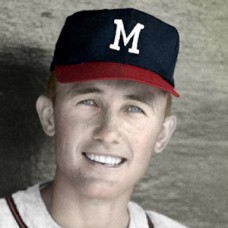 "Ty Cline - 1963 Milwaukee Braves - 4""x6"" colorized print"