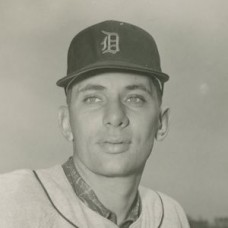 "Jack Dittmer - 1957 Detroit Tigers 4""x5"" contact print"