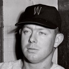 "Karl Olson - 1956 Washington Senators 7""x9"" wirephoto"